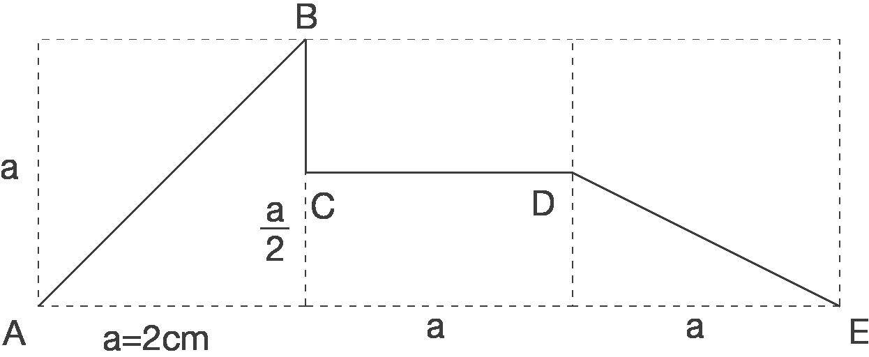 Trigonometrie in Körpern: Streckenzug