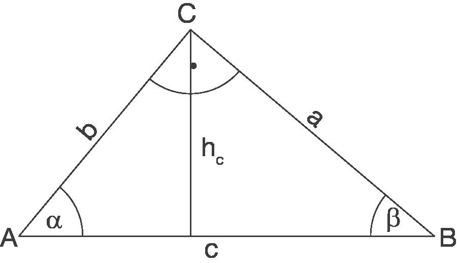 Rechtwinkliges Dreieck: Flächeninhalt und Umfang