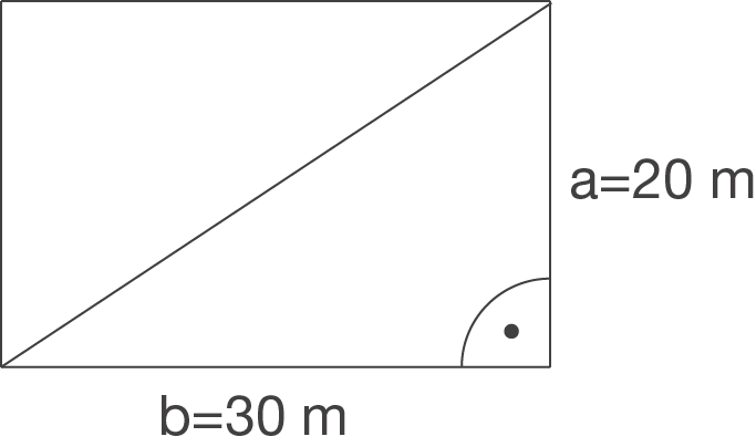 Rechtwinkliges Dreieck: Satz des Pythagoras