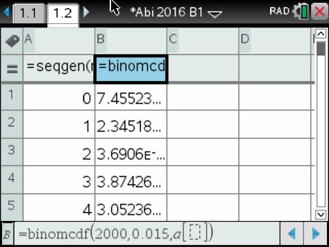 Binomialtabelle